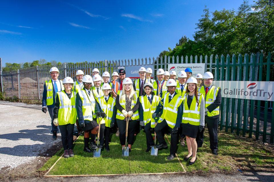 Groundbreaking ceremony held as construction of Oldham's new secondary school begins