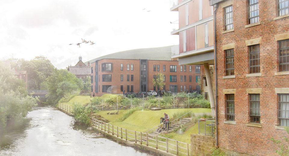 Work begins on riverside Stalybridge apartments